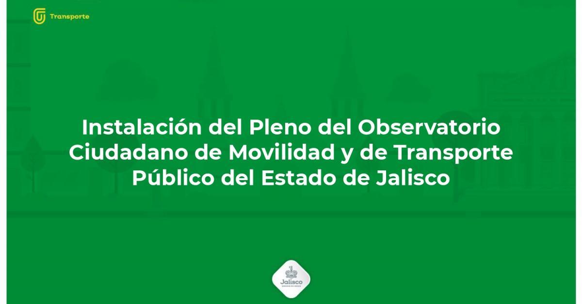 Observatorio Ciudadano de Movilidad y Transporte Público